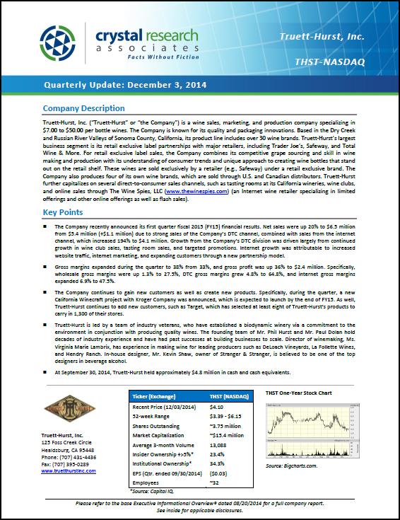 Truett-Hurst Quarterly Update Cover