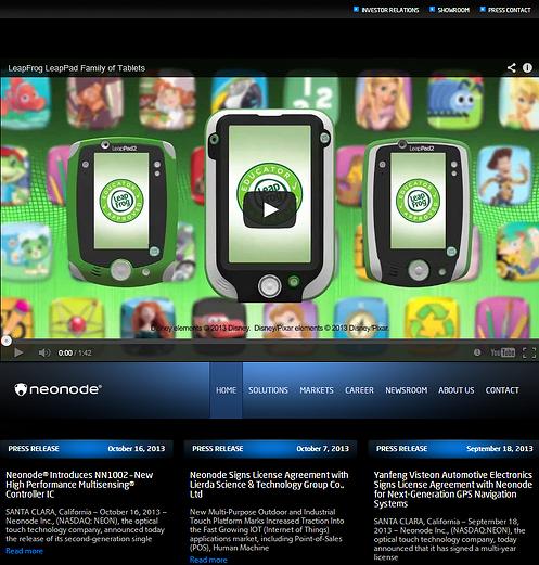 Neonode Homepage