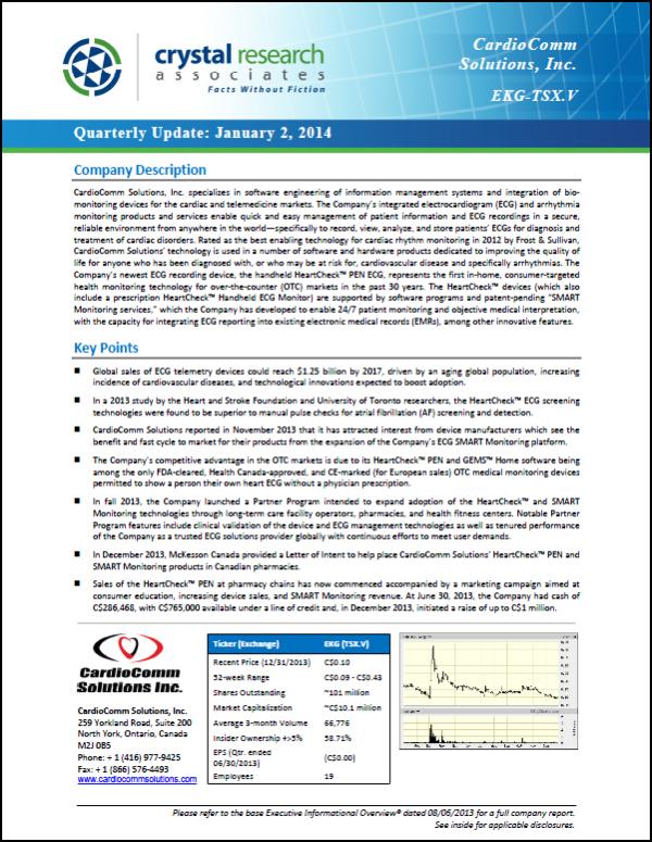 CardioComm Quarterly Update Cover