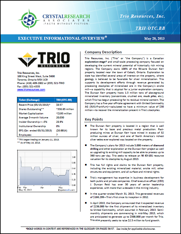 Trio Resources EIO Cover